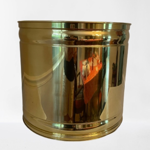 """Large brass planter 13.5"""" opening no rust"""